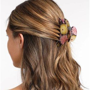 France Luxe Couture Jaw Hair Clip Chrysanthemum